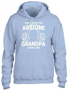 this is what an awesome grandpa looks likewhite HOODIE