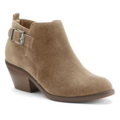 SONOMA Goods for Life -  Suede Ankle Boots - Olive Green - kohls.com - Original Price $75 - Sale Price $25.65
