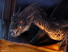 "The Hobbit Smaug Dragon ""You Have Nice Manners For A Thief"" Fan Art Prints and Posters by sugarpoultry on Etsy https://www.etsy.com/listing/175590309/the-hobbit-smaug-dragon-you-have-nice"