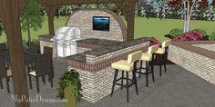 Пользовательские патио конструкции с открытыми кухнями ...