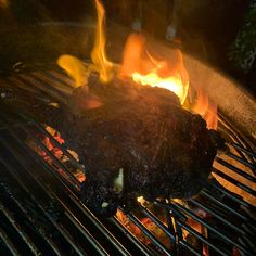I dont often get big flames on the barbecue. Usually the coals are nice and hot and they do whats needed. This evenings cook however got a little hot when I brought it over the coals. Lots of juices that caught fire! Juices, Barbecue, Fire, Cooking, Hot, Instagram, Cucina, Bbq, Barrel Smoker