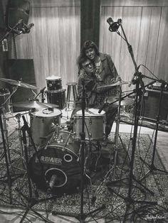 Banda Eu, Você e a Manga em dia de gravação (bateria) no LM Studio Belvedere