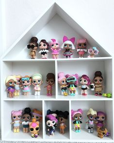 #blushandblackathome Before | After. Totally not shop related but too cute not to share. Who else has LOL doll obsessed little girls or boys?