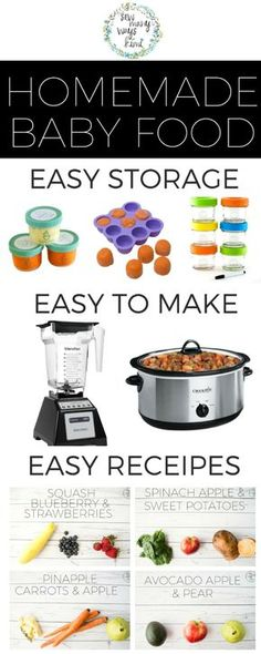 No need to buy a $200 baby food maker! Great for beginners/newbies! Just use your blender and crockpot! Includes super easy and yummy homemade baby food recipes. Store, make and feed. via Sew Many Ways Kimi