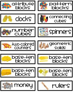 Math Manipulative Labels - Fun and Fearless in First.pdf