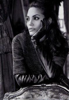 Angelina Jolie for luxury brand St. John Ad. 2006.