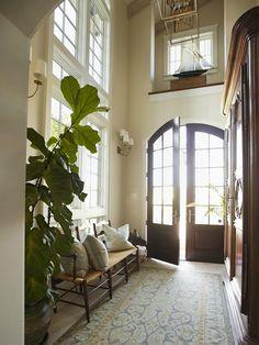Black door.love this space!