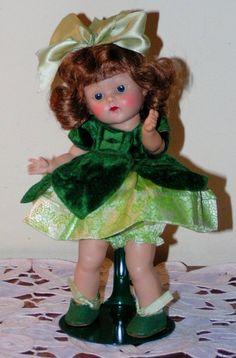 "VOGUE 1952 Strung HP Ginny ""DAWN"" Factory Dressed Doll w/Stapled Bow - So Pretty #VOGUE #DOLL1950SSTRUNGHPGINNYDOLLVINTAGE"