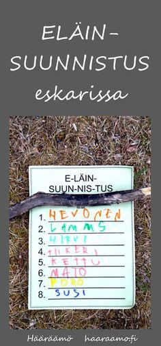 Kirjoitusharjoitusta liikunnallisen aktiviteetin lomassa: Eläinsuunnistus eskarissa http://www.haaraamo.fi