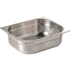 Vogue Stainless Steel 1/2 Perforated Gastronorm Pan 40mm - E698