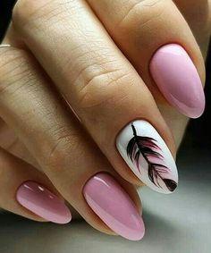Amazing Feather Pink Nail Art Designs Making This Som .- Erstaunliche Feder-Rosa-Nagel-Kunst-Entwürfe, die diesen Sommer enorm sein werden Amazing Feather Pink Nail Art Designs That Will Be Huge This Summer – - Pink Nail Art, Acrylic Nail Art, Cool Nail Art, Pink Art, Cool Nail Ideas, Feather Nail Art, Feather Nail Designs, Gel Nail Art Designs, Elegant Nail Designs