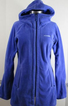Columbia Benton Springs Long hoodie Small Fleece Jacket Bluish-Purple GRUC #Columbia #FleeceJacket #Casual