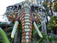 Mosaic Elephant by brookdaledude, via Flickr