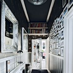 Looking for modern hallway decorating ideas? Take a look at this monochrome hallway from Livinetc for inspiration. For more hallways ideas, such as how to decorate with monochrome, visit our hallway galleries