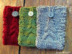 Christmas Tree Gift Card-igans Knitting Pattern | SimplyNotable.com