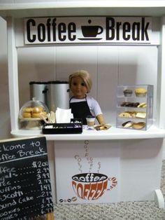 American Girl Food Coffee Cart, annsAGminiatures via Etsy $1,000.00