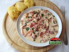Mancare de ardei copti cu smantana Cheeseburger Chowder, Vegetarian Recipes, Soup, Cooking, Kitchens, Kitchen, Soups, Brewing, Cuisine