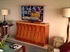 tv lift cabinet made for a place in hawaii this tv lift cabinet has koa