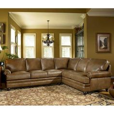 Build Your Own Series Leather Sectional With Panel Arm Turned Legs By Smith Brothers At Saugerties Furniture Mart Choice Of Arms