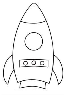 rocket coloring page for preschool