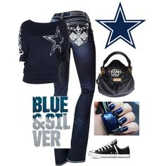 """""""Dallas Cowboys Game Day"""" by Rox on Polyvore"""