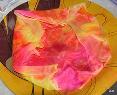 At the March Meeting, Joanne taught us how to dye silk scarves like these with Spectra Art Tissue and a spray bottle with water.  This metho...