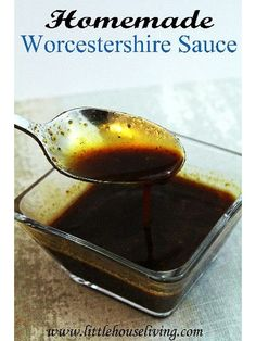 Homemade Worcestershire Sauce Recipe - It is is actually very easy to make your own batch of this sauce.