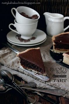 maadfoodhouse:  Peanut Butter Chocolate tart - Rustic Kitchen