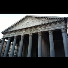 """The Pantheon, an adjective meaning """"(temple consecrated) to all gods"""") is a building in Rome, Italy, commissioned by Marcus Agrippa as a temple to all the gods of Ancient Rome, and rebuilt by Emperor Hadrian in about 126 AD. Italy Map, Rome Italy, Italy Travel, Rome Apartment, Tours, Philippines Travel, Vatican City, Palawan, Wonderful Places"""