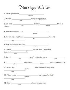 Best wedding games for guests funny mad libs ideas Wedding Games For Guests, Wedding Shower Games, Funny Mad Libs, Bachelorette Party Games, Bachlorette Party, Bachelorette Weekend, Before Wedding, Wedding Songs, Wedding Mad Libs