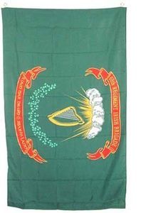 "New Large 3x5 69th Irish Infantry Brigade Flag Flags by NationalCountryFlags. $0.92. Includes 2 Brass grommets for hanging. Material: Polyester. Size: 3' x 5' (36"" x 60""). New Large 3x5 69th Irish Infantry Brigade Flag Flags. The Irish Brigade was an infantry brigade that served in the American Civil War, consisting predominantly of Irish immigrants. The designation of the first regiment in the brigade, the 69th New York Infantry, or the ""Fighting 69th"", contin..."
