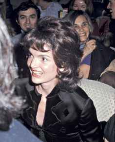 """Jackie at a performance of 'Hair', New York, 1970. Photo by Ron Galella. """"Jackie went to the theatre with André Meyer, a financier and one of her """"walkers"""". In fact, he's the one who got her the apartment on Fifth Avenue. She only paid about $250,000 in 1964 and later when she died it was sold for $10 million"""""""