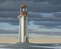 A lighthouse by Christopher Pratt Christopher Pratt, Mary Pratt, Order Of Canada, Alex Colville, American Story, Glasgow School Of Art, Magic Realism, Digital Museum, Newfoundland And Labrador