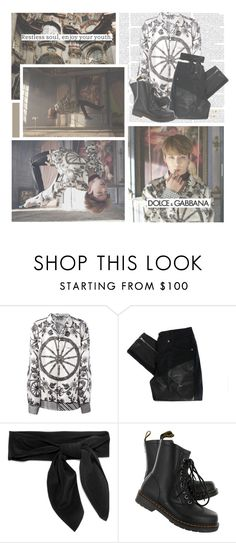 """""""Blood, Sweat, & Tears--- BTS (Jungkook)"""" by alicejean123 ❤ liked on Polyvore featuring Dolce&Gabbana, Stolen Girlfriends Club, Chloé, Dr. Martens, Valentino, vintage, men's fashion and menswear"""