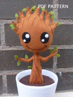 Patrón PDF para hacer un fieltro Groot. por Kosucas en Etsy
