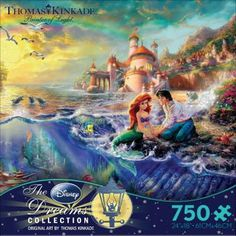 """Go under the sea with this puzzle of The Little Mermaid! - Manufacturer: Ceaco - Item Number: 2903-05 - Piece Count: 750 - Puzzle Size: 24"""" x 18"""""""