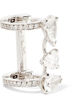 Repossi - Serti Sur Vide 18-karat White Gold Diamond Ear Cuff