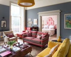 A colourful Edinburgh Georgian flat (Desire To Inspire) Classic Interior, Home Interior Design, Living Room Designs, Living Room Decor, Georgian Style Homes, Georgian Interiors, Colourful Living Room, Home And Deco, Classic Furniture