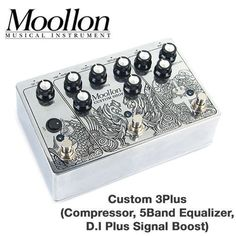 Moollon Custom Shop 3 Plus EQ Compressor DI Signal Boost Effects Unique Design #Moollon