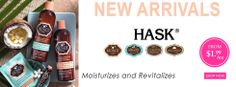 New Arrivals! HASK Hair Care http://www.aonebeauty.com/brands/Hask.html?sort=newest #hask #haircare #hairoil #arganoil #keratin #conditioner #mcadamiaOil #monoioil #sulfatefree