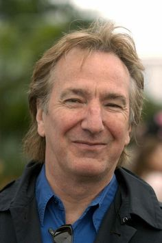 """Alan Rickman attends """"The Chelsea Flower Show"""", London, England on May 20, 2003. photo by Rune Hellestad"""