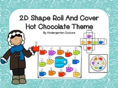 Students will enjoy this Hot Chocolate Theme 2D shape Roll and Cover. It can be played with the spinner that is included or the die. It can be played as Roll and Cover or as 2D shape bump. The idea of this game is to reinforce shape recognition and naming.Directions for 2D Shape Roll and Cover:This is a two or more player game.