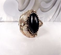 Southwestern Sterling Silver Black Onyx Ring by LittleBittreasures #madeinusa #jewelryforsale #musthave #style