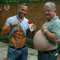 Which one you want abs or beer gut?