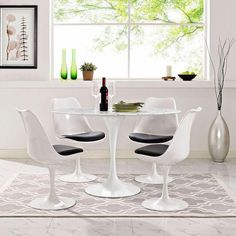 Modway Furniture Lippa 48 Inch Oval Shaped Artificial Marble Dining Table In White Eei 2021 Whi Marble Top Dining Table, Tulip Dining Table, Dining Table Online, Gold Table, Modern Dining Table, Dining Table In Kitchen, A Table, Dining Room, Dining Tables