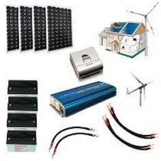 Kit hybride complet Solaire et éolien - 2500 à 5000Wh 24V - haute puissance