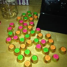 50 reasons why I love you! I did this for my boyfriend for his birthday. I put all of them in a mason jar. They are tiny peanut butter cups with stickers on them with reasons why I love him.