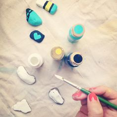 Easy DIY project painting rocks