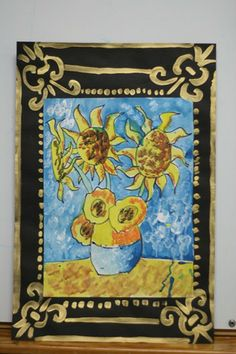 vangogh sunflowers with cool self-made frames