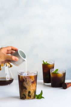 Switch up your morning coffee with this Minty Iced Coffee / via Sweet Swaps #ad